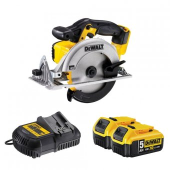 DEWALT DCS391P2 18V CORDLESS CIRCULAR SAW WITH 2 X 5.0AH BATTERIES