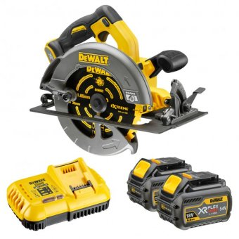 DEWALT DCS575T2 XR FLEXVOLT 54V CIRCULAR SAW WITH 2 X 54V 6.0AH LI-ION BATTERIES