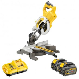 DEWALT DCS777T2 XR FLEXVOLT 54V 216MM MITRE SAW WITH 2 X 54V 6.0AH LI-ION BATTERIES