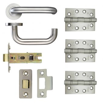 19MM RETURN TO DOOR LEVER HANDLE ON ROSE DOOR KIT