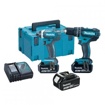 MAKITA DLX213JX1 18V LI-ION 2 PIECE COMBO KIT WITH 3 X 3.0AH BATTERIES