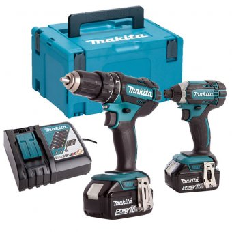 MAKITA DLX2131TJ 18V LI-ION 2 PIECE COMBO KIT WITH 2 X 5.0AH BATTERIES
