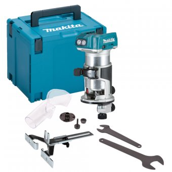 MAKITA DRT50ZJ 18V LXT BRUSHLESS ROUTER / TRIMMER IN MAKPAC CASE 4 (BODY ONLY)
