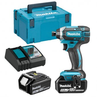 MAKITA DTD152RTJ 18V LI-ION LXT IMPACT DRIVER WITH 2X5.0AH BATTERIES AND CHARGER KIT