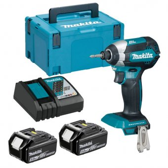 MAKITA DTD153RTJ 18V BRUSHLESS LI-ION LXT IMPACT DRIVER WITH 2X5.0AH BATTERIES & CHARGER KIT