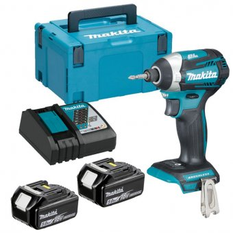 MAKITA DTD154Z 18V 4-MODE LI-ION BRUSHLESS IMPACT DRIVER WITH 2X5.0AH BATTERIES AND CHARGER KIT