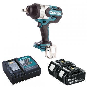 MAKITA DTW1002RTJ 18V BRUSHLESS IMPACT WRENCH WITH 2 X 5.0AH BATTERIES