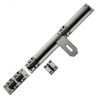 GALVANISED HEAVY CROSS PATTERN DOOR BOLT