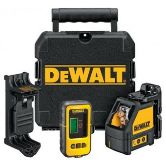 DEWALT DW088KD-XJ SELF-LEVELLING CROSS LINE LASER LEVEL WITH DE0892 LASER DETECTOR