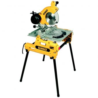 DEWALT DW743N 250MM COMBINATION FLIPOVER SAW