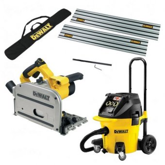 DEWALT DWS520/DWV902 PLUNGE SAW 110V AND M CLASS DUST EXTRACTOR KIT