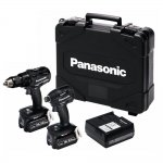 PANASONIC EYC217LJ2G31 18V 5.0AH LI-ION BRUSHLESS COMBI DRILL AND IMPACT DRIVER TWIN PACK