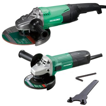 HIKOKI G23STG12STXJ1Z 115MM AND 230MM ANGLE GRINDERS TWIN PACK 240V