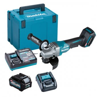 "MAKITA GA013GD101 40V MAX XGT BRUSHLESS PADDLE SWITCH 125MM (5"") ANGLE GRINDER WITH 1X 2.5AH BATTERY MAKPAC KIT"