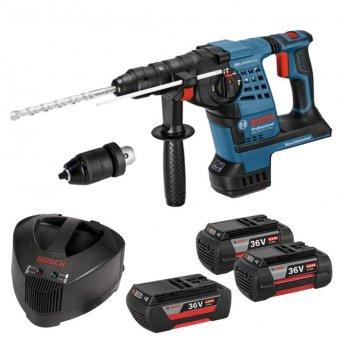 BOSCH GBH36VF-LI 36V LI-ION SDS+ HAMMER DRILL WITH QUICK CHANGE CHUCK WITH 2 X 4.0AH BATTERIES AND 1 X 2.0AH BATTERY