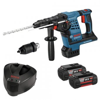BOSCH GBH36VF-LI 36V LI-ION SDS+ HAMMER DRILL WITH QUICK CHANGE CHUCK WITH 2 X 4.0AH BATTERIES