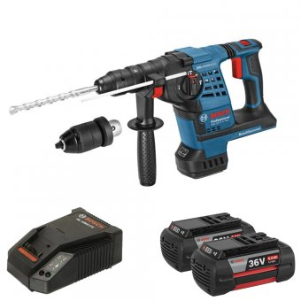 BOSCH GBH36VFLI 36V SDS+ HAMMER DRILL WITH 2 X 6.0AH BATTERIES