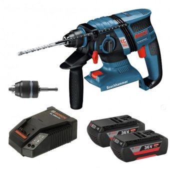 BOSCH GBH 36VEC COMPACT 36V LI-ION 2.0AH BRUSHLESS SDS+ HAMMER DRILL WITH KEYLESS CHUCK