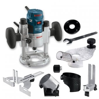 "BOSCH GKF600TE 1/4"" PALM ROUTER / TRIMMER WITH TE 600 PLUNGE BASE"