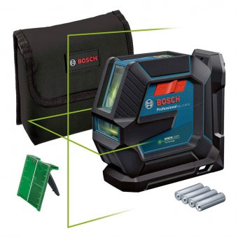 BOSCH 0601063W00 GLL 2-15G PROFESSIONAL GREEN BEAM LINE LASER PLUS LB 10 MOUNT IN BAG