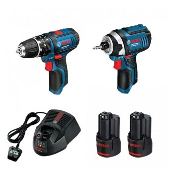 BOSCH GSB/GDR 12V TWINPACK WITH 2 X 2.0AH BATTERIES