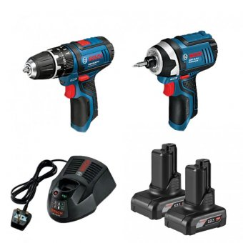 BOSCH GSB/GDR 12V TWINPACK WITH 2 X 4.0AH BATTERIES