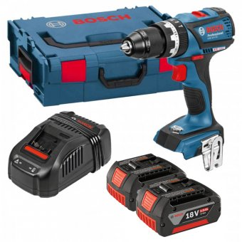 BOSCH GSB18VEC5 18V BRUSHLESS COMBI DRILL WITH 2 X 5.0AH LI-ION BATTERIES