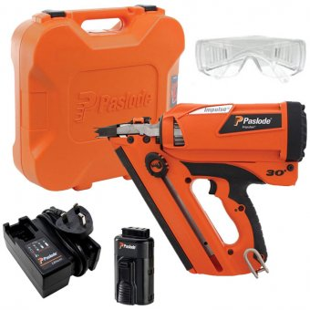 PASLODE 905900 IM350+ LITHIUM GAS 90MM 1ST FIX FRAMING NAIL GUN WITH 1 BATTERY, CHARGER & CASE