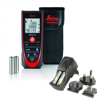 LEICA DISTO D2 BLUETOOTH SMART 100M DISTANCE MEASURE WITH RECHARGEABLE BATTERIES AND CHARGER