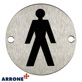 SATIN STAINLESS STEEL MALE SYMBOL DOOR SIGN