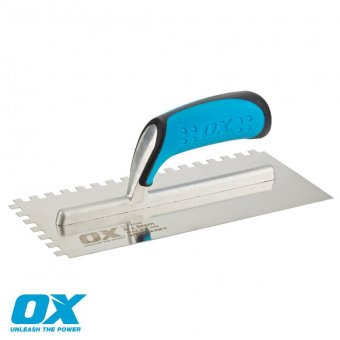 OX PRO NOTCHED TROWEL 8MM