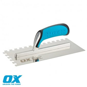 OX PRO NOTCHED TROWEL 10MM