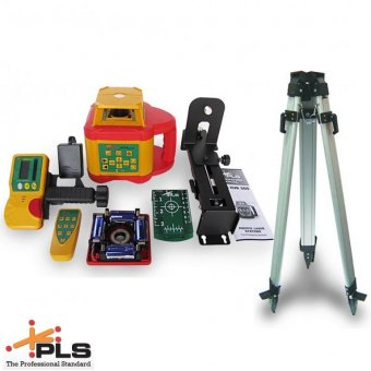 PLS HVR 505G HIGHLY VISIBLE GREEN BEAM ROTARY LASER LEVEL WITH TRIPOD