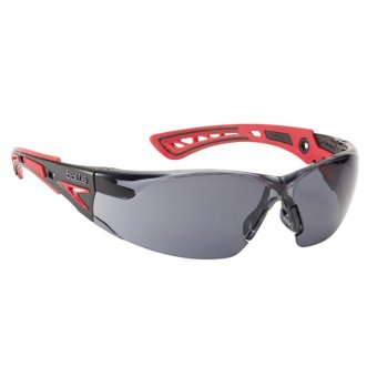 BOLLE RUSH+ PLATINUM SAFETY GLASSES - SMOKE