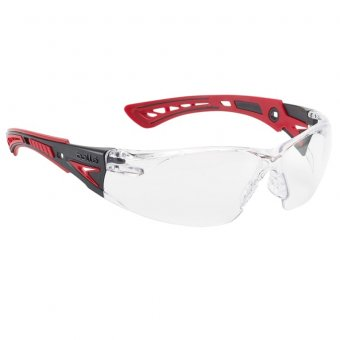 BOLLE RUSH+ PLATINUM SAFETY GLASSES - CLEAR