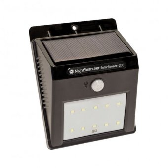 NIGHTSEARCHER SOLARSENSOR-200 SOLAR POWERED SECURITY LIGHT