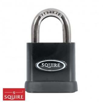 SQUIRE STRONGHOLD P5 SOLID STEEL 5-PIN TUMBLER PADLOCK