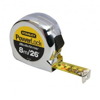 STANLEY 8M / 26FT BLADE ARMOUR POWERLOCK RULE