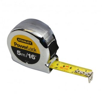 STANLEY 5M / 16FT MICRO POWERLOCK TAPE