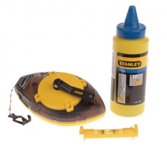 STANLEY 0-47-465 POWER WINDER CHALK LINE - 30M / 100FT
