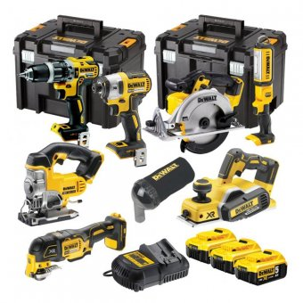 DEWALT 7 PIECE 18V 3x5.0AH LI-ION XR CORDLESS BRUSHLESS KIT