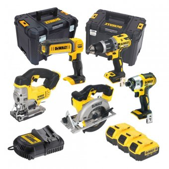 DEWALT 18V 5 PIECE KIT WITH 3 X 5.0AH LI-ION BATTERIES