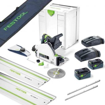 FESTOOL TSC55 18V CORDLESS PLUNGE-CUT SAW SET WITH 2 X 5.2AH BATTERIES
