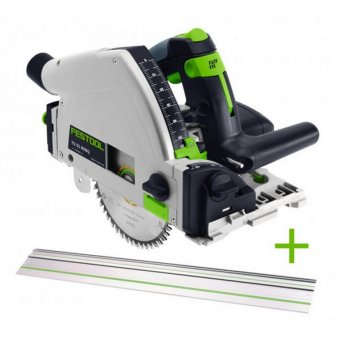 FESTOOL TS55 REQ-PLUS PLUNGE SAW WITH FS/1400 1.4M GUIDE RAIL (561584/561583)