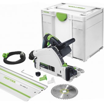 FESTOOL 561583 TS55 REQ-PLUS 240V PLUNGE SAW WITH FS/1400 1.4M GUIDE RAIL