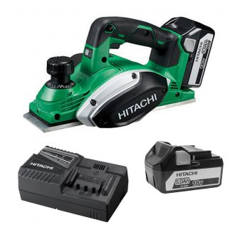 Hitachi P18DSLJJ 18V Planer 2 X 5.0ah Li-ion Batteries