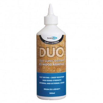 "BOND IT DUO ""2 IN 1"" WOOD GLUE - 500ML"