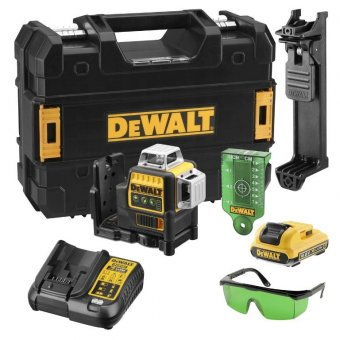 DEWALT DCE089D1G GREEN 360 CROSS LINE LASER WITH 1 X 10.8V 2.0AH BATTERY