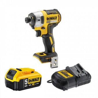 DEWALT DCF887P1-GB 18V XR BRUSHLESS IMPACT DRIVER WITH 1 X 5.0AH BATTERY