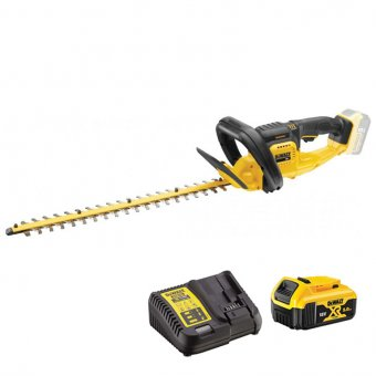 DEWALT DCM563P1-GB XR CORDLESS HEDGE TRIMMER KIT, 1X5.0AH BATTERY & CHARGER